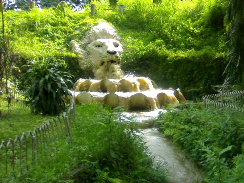 Lion in the park - Last week we go to Old Balara Q.C. Philippines and this picture caught up my attention so i grabbed my N70 cellphone and started to photographed the scenario.It became more interesting when the waters started rushing out of the mouth of the Lion Stone!
