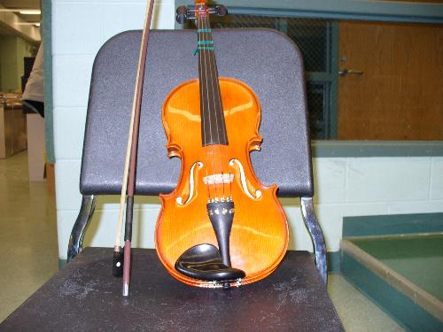 Violin from High School - This is a picture of my violin from high school.I was in Orchestra.