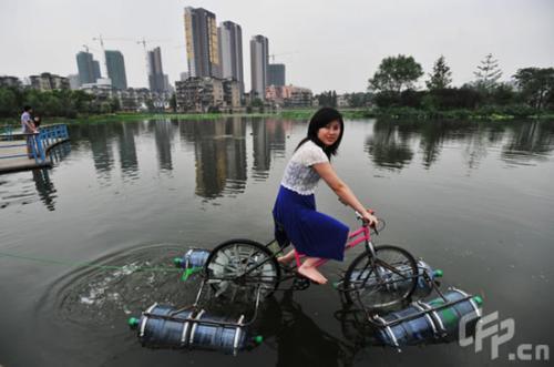 Amphibious Bike - Water bike.