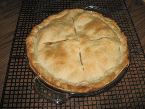 Homemade Apple Pie - My first try at this with my homegrown apples.