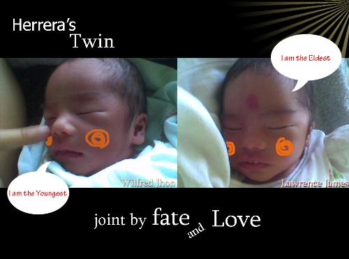 my twin!  - here are my babies! Thank God!
