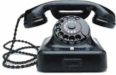 What's the use of your landline phone? - Landline phone in the corner.