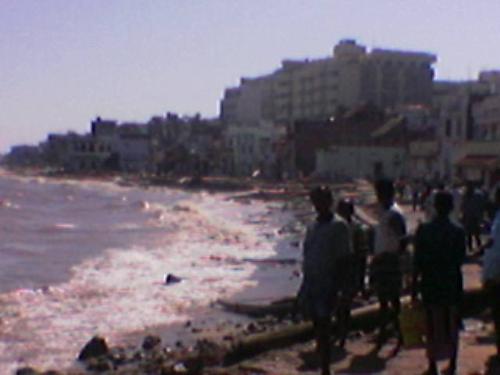 Kanyakumari 30 minutes after Tsunami - The pic is of Kanyakumari 30mints. after tsunami had struck.