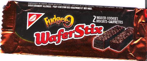 Fudgee-o Wafer Stix - Wrapper from the wafer stix in question.