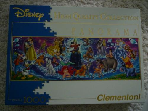 Puzzle with Disney characters - This is the puzzle I'm working on now.