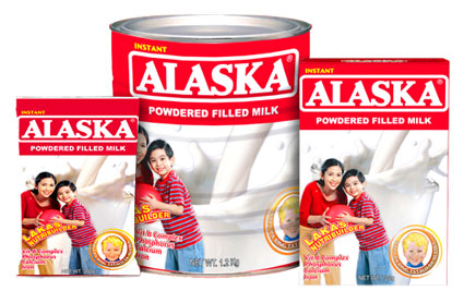 alaska powdered filled milk - alaka powdered milk has higher percentage of protien and carbs