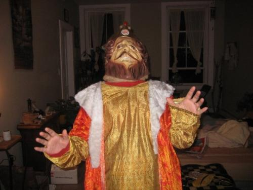 Halloween Costume - This is my Halloween costume. The Burger King King is such an interesting character on TV and he is so quirky on the commercials.