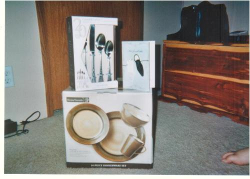 Gifts - These are the gifts that we wanted, these were two things on the registry + the card, I like the card!