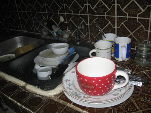 washing dishes - dishes, etc. for washing