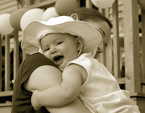 """Parenting - Open your arms wide and give your child a HUG to say """" WE CARE"""""""