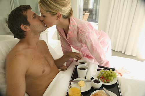 breakfast in bed - coffee?...tea?...or me?
