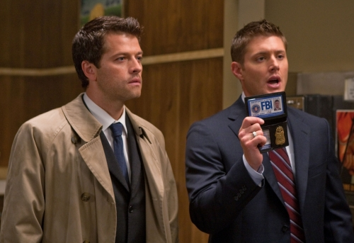 Castiel and Dean - Castiel and Dean as FBI agents