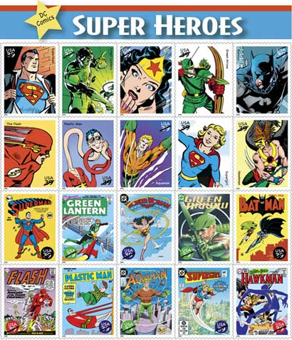 Comic book superheroes - An index of the more commonly known superheroes.