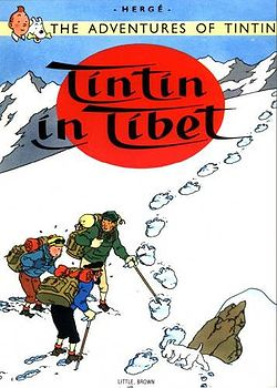 Tintin in Tibet Cover - The cover of the Tintin in Tibet Comicbook. My favorite!