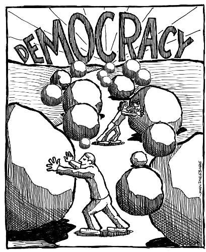 democracy - democracy is by the people and for the people