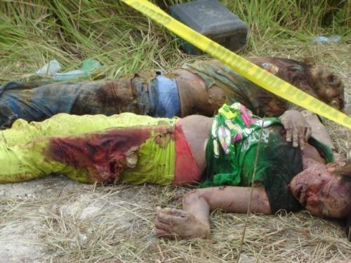 actual photo - barbaric way of killing