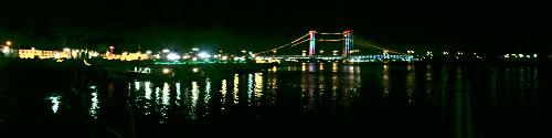 Musi Bridge at night - I got this picture with my cell phone SE C901