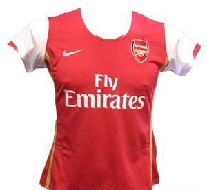 Arsenal jersey - This is the red jersey for Arsenal team