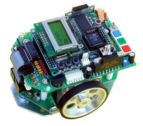 micro mouse - This is a photo of a small mini robotic thing make by some computer engineers.