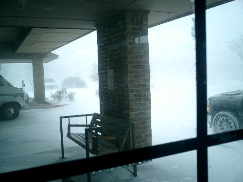 blizzard - Visibility was down to almost nothing!