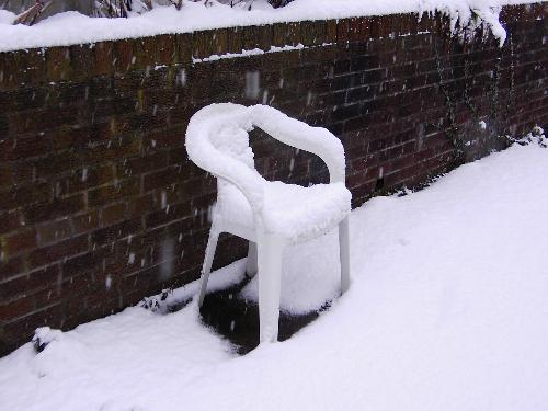 snow -  chair in the winter