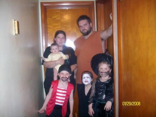 our family on Halloween 09 - myself, husband an children