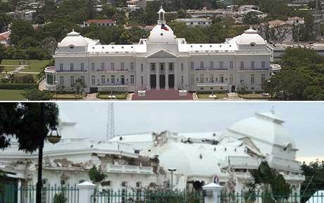 Haiti palace - haiti palace destroyed by earthquake.