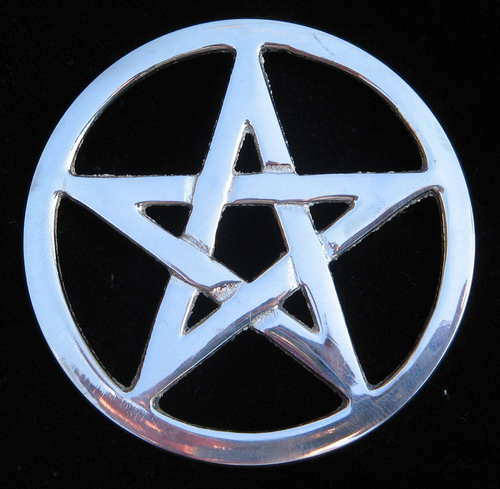 Silver Pentagram - The Pentagram is used as a religious symbol by several ancient pagan societies in the world.