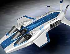 plane by virgin limited - This plane is said to be able to fly both in air and under water.