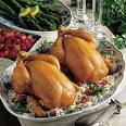 Cornish Hen - A very small bird that is edible.