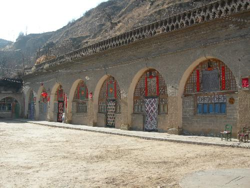 the cave dwelling - The people in Shanbei live in the cave dwellings.