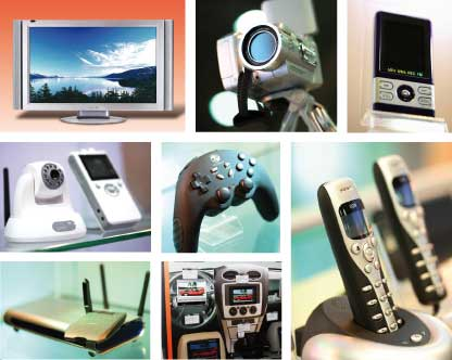 electronic goods - The picture shows some electronic goods which are being sold are very cheaper rate.