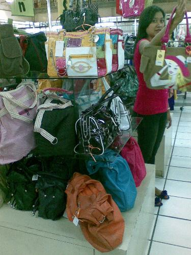 bags - bags on display in a department store