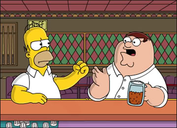 Simpsons vs Family Guy - Who is gonna win this duel of titans?