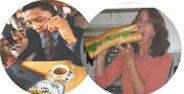 talking n eating - Images of eating