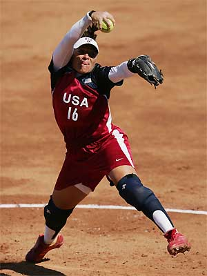 softball - This is a pitcher of softball.