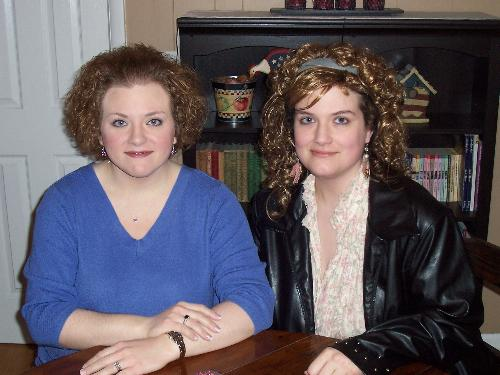 My Sister And Me -  My sister is the one with the shorter hair, and of course that means I'm the one in the black jacket. She is older by two years.