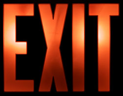 red exit - Red like everybody know pertains to STOP and Danger.