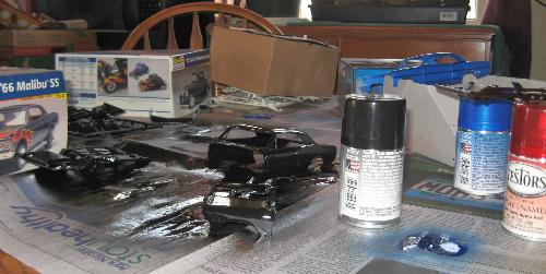 Model cars - Painting 3 model cars I am building.