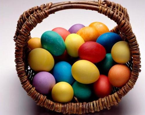 Easter Eggs - Wish my easter was as colorful as those eggs are.