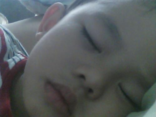 My Son Sleeping - My three year old son is sleeping. There is peace.....