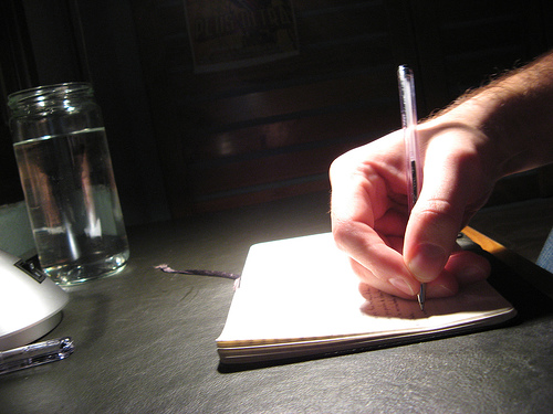 Saturated Writing - Saturated Writing by tnarik on Flickr via Creative Commons