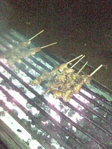 Isaw - barbecued intestines