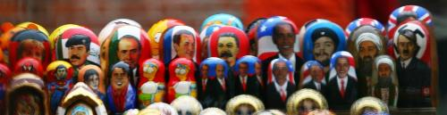 Wooden puppets - Wooden puppets from Riga with a rich variety of politicians