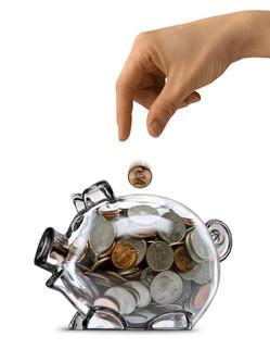 Coin Savings - Piggy bank savings - coins