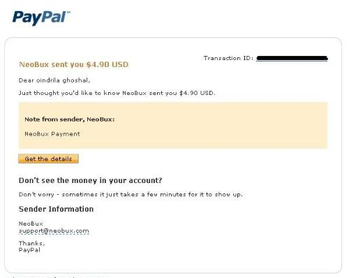 My recent Neobux payment proof - I recently got paid from Neobux.This site really pays and is a consistent money-maker for me which is why I invested money in renting referrals here.