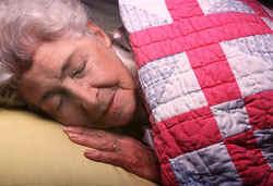 elderly sleeping - most elderly sleep less than older people.