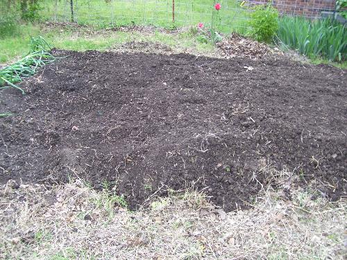 Garden Plot - We have been building the soil here, and had it rototilled on Saturday.
