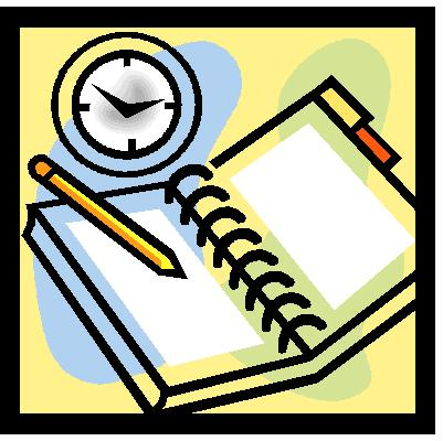 Schedule - A generic picture of a schedule planner. Used as a visual aid for this discussion.