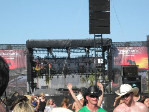 Stagecoach Mane Stage - Picture of the Mane Stage at Stagecoach 2010, Indio CA. Phil Vassar is preforming on stage at time of photo.